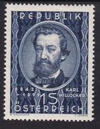 Austria 1949 Mi-Nr. 947, 50.Todestag Karl Millöcker, Postfrisch, Siehe Scan