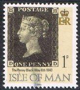 Isle Of Man SG442 1990 Penny Black 1p DD Good/fine Used [12/12560/25D]