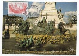 CM--1984--Exposition Philatélique Bordeaux--cachet 57° Congrès -Monument Aux Girondins - Cartes-Maximum