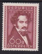 Austria 1950 Mi-Nr. 948, 160.Geburtstag Moritz Daffinger, Postfrisch, Siehe Scan