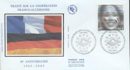 France 2003 - Cover: FDC - Flag