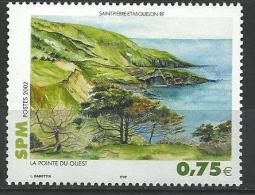 """SPM YT 780 """" Pointe Du Ouest """" 2002 Neuf** - Unused Stamps"""