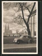 CPA Köln-Deutz, Ford Taunus Vor Dem Haus Der Rheinischen Heimat - Publicité