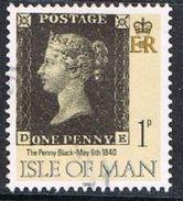 Isle Of Man SG442 1990 Penny Black 1p DE Good/fine Used [12/12561/25D]