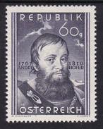 Austria 1950 Mi-Nr. 949, 140.Todestag Andreas Hofer, Postfrisch, Siehe Scan