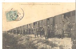 Débarquement De La Division D'infanterie à La Gare De Mailly - Le - Camp - Mailly-le-Camp