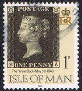 Isle Of Man SG442 1990 Penny Black 1p EA Good/fine Used [12/12562/25D]