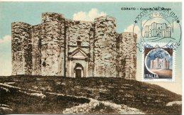 14801 Italia, Maximum 1980, Medieval Castle,  Chateau Medieval De Andria, Vintage Card - Maximumkaarten