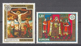 Andorra -Franc 1975 Europa. Y=243-44 E=264-65