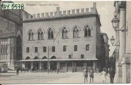 Emilia Romagna-bologna Palazzo Dei Notai Veduta Tram Carretto Militari Primi 900 - Bologna
