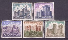 Espagne 1969. Chateaux. Yv 1584-88 (**)