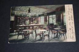 AK Erfrischungsraum Des Warenhauses Hambg. Engros-Lager Leopold Nussbaum,Halle A.S.,gelaufen 1904 - Halle (Saale)