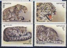 MDW-BK1-014 MINT MNH ¤ KYRGYSTAN 1994 4w In Serie ¤ - WWF - CATS - ENDANGERED SPECIES - MAMMALS