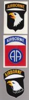 Lot 3 Autocollants Airborne - Militaria