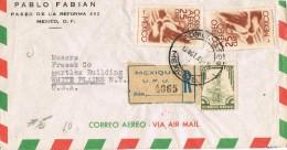 19769. Carta Aerea Certificada MEXICO 1948 A USA. Correpondencia Registrada VARIEDAD - Mexique