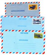3 Enveloppes Aérogramme Neuves , Toutes  Différentes