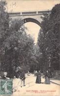 75 - PARIS ( 19° )  Série Tout Paris : BUTTES CHAUMONT -Pont De Brique - CPA - Seine - Arrondissement: 19