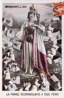 INONDATIONS DE 1910 - 75 - PARIS ( Fantaisie Patriotique ) SOUSCRIPTION ... La France Reconnaissante - CPSM Colorisée PF - Alluvioni Del 1910