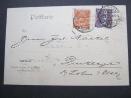 1923 , HÖCHST    Firmenlochung , Perfin , Beleg