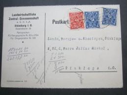 1923 , Oldenburg   Firmenlochung , Perfin , Beleg