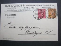 1923 , Bremen   Firmenlochung , Perfin , Beleg