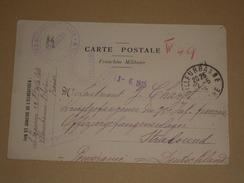 WW1 1915 Carte En Franchise Militaire Pour Officier Du 75e RI Prisonnier Camp De Stralsund Poméranie Allemagne/12 Lignes - 1. Weltkrieg 1914-1918