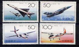 CHINE - 3387/3390** - AVIONS CHINOIS - 1949 - ... République Populaire