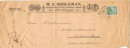 19775. Carta Imprimé, Impresos AMSTERDAM (Holland)  1907 - Periode 1891-1948 (Wilhelmina)