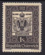 Austria 1950 Mi-Nr. 950, 100 Jahre österr. Briefmarke, Postfrisch, Siehe Scan