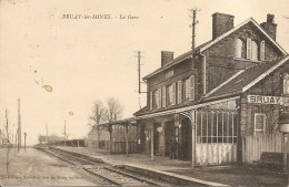 62 - BRUAY-les-MINES - La Gare - Animée - Nouvelles Galeries, Bruay-les-Mines - Frankreich