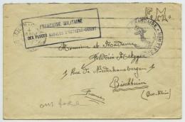 Cachet Franchise Militaire Des Forces Navales D'Extrême-Orient / Env. 4 Janv. 1937 De Saïgon à Bischheim. - Marcophilie (Lettres)
