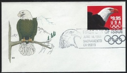 US 1991  Sc#2541  $9.95  Eagle On  FDC