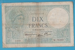 FRANCE 10 FRANCS 26.9.1940 ALPHA W.76322  MINERVE - 1871-1952 Circulated During XXth
