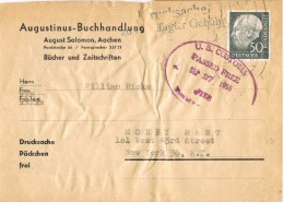 19776. Frontal Paquete AACHEN (alemania Federal) 1955. Passed Free. Customs, Aduana