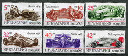 (CL 45 Bis) Bulgarie ** N° 3062 à 3067 - Voitures De Sport - - Bulgarien