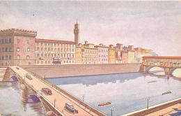 """HOTEL BERCHIELLI FLORENCE  LUNGARNO ACCIAIOLI  CEVENINI & BONETTI - Propr. - By """"NOVISSIMA"""" - ROMA, Circa 1920, Art - Firenze"""