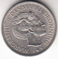 DINAMARCA 1980   1 KRONE. REINA MARGRETHE II . NIQUEL PESO 6 GRAMOS    EBC   CN4359 - Dinamarca