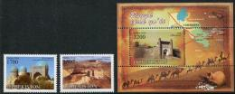 Uzbekistan (2016) - Set  + Block -  /  Heritage - Silk Way - Camels - Maps