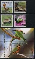 Uzbekistan (2015) - Set + Block -  /  Pajaros - Aves - Vogel - Oiseaux - Birds - Vogels