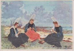 C P S M  HOMUALK EN PARCOURANT LA BRETAGNE ST GUENOLE PENMARCH DENTELLIERES SERIE 2  N° 24 - Homualk