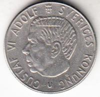 SUECIA 1968  1 KRONE. REY GUSTAF VI ADOLF  . NIQUEL PESO 6 GRAMOS    EBC   CN4359 - Suecia