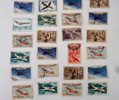 Lot De 24 Timbres De Poste Aérienne De 50 F, 100 F, 200 F, 2 F, 5 F - Poste Aérienne