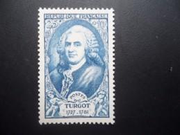Année 1949  N° 858 Neuf ** MNH Acques Turgot