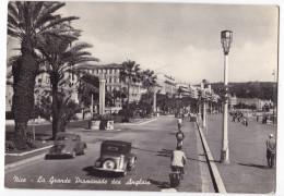 NICE. - La Grande Promenade Des Anglais. 4CV Et Voiture Années 50 1er Plan. Cliché RARE - Nice