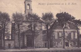 Bd - Cpa Hollande - Muiden - Gemeentehuis En R. K. Kerk - Nederland