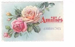 50 Avranches Amitiés D' Avranches Carte Fantaisie Carte Ecrite En 1942