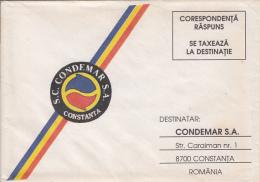 PREPAID SPECIAL COVER, COMPANY LOGO, ADVERTISING, ROMANIA - 1948-.... Republiken