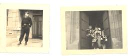 Lot De 2 Photos ( +/- 6 X 9 Et  6 X 6 Cm) Gendarme, Police, Policier    (b193) - Profesiones