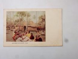 Carte Postale Ancienne : Tappa Making ( Native Cloth), TONGA - Tonga