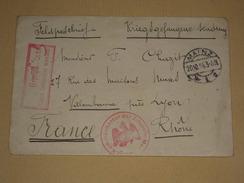 POW WW1 1914 Allemagne - Lettre D'un Prisonnier De Guerre Citadelle De Mayence - Censure + Kommandantur Der Zitadelle - 1. Weltkrieg 1914-1918